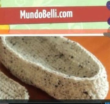 Pantufla Bota Crochet ¿Cómo tejer una Pantufla?  | Paso a Paso 6 de 8
