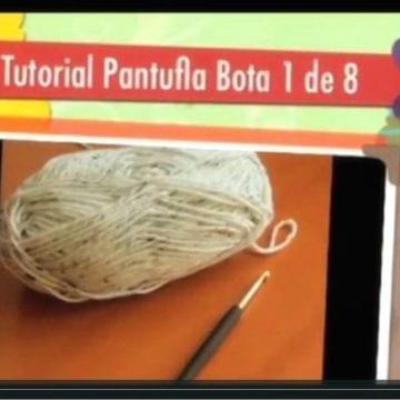 Pantufla Bota ¿Cómo tejer una Pantufla?  | Paso a Paso 1 de 8